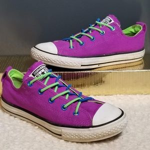 CONVERSE Purple All Star Tennis Shoes Jr 3